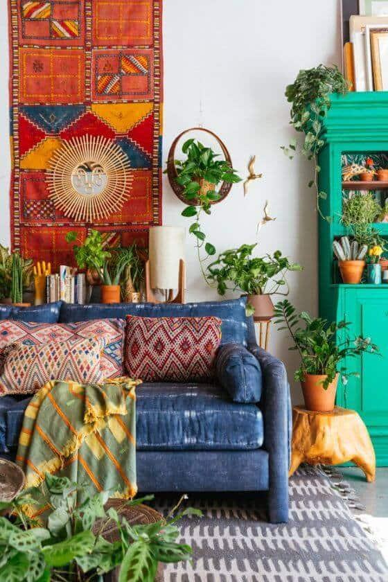 Artwork bohemian living room