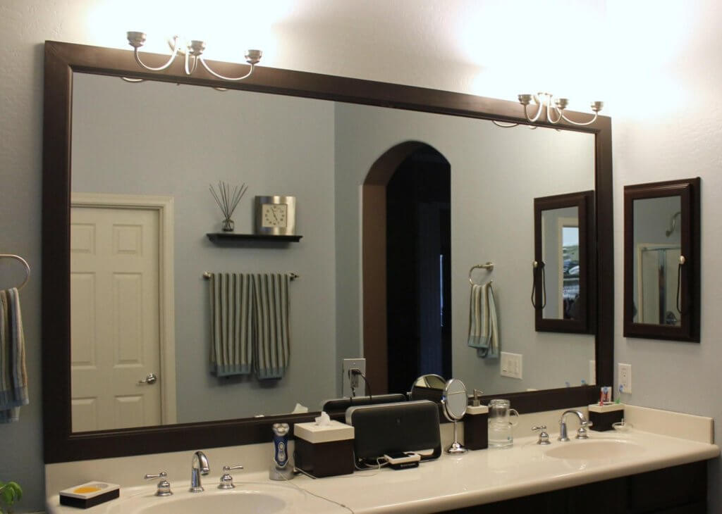Big Wooden Framed Mirrors
