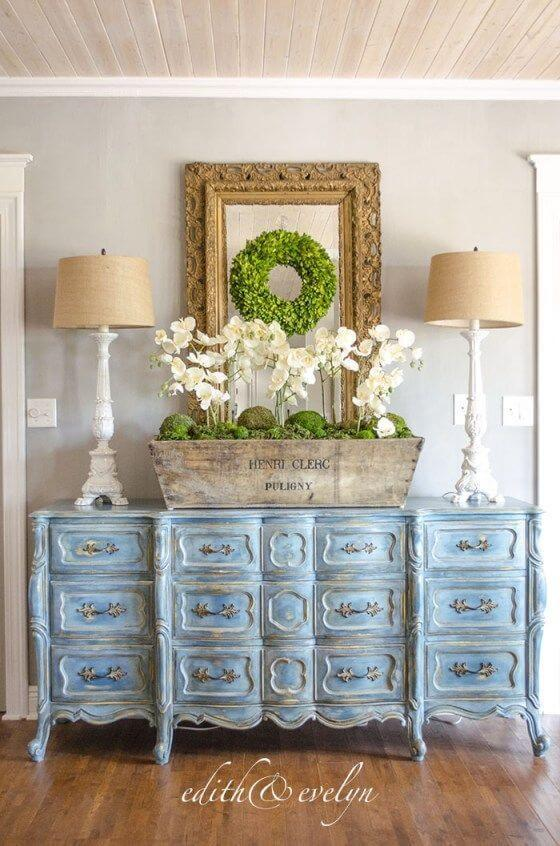 Blue French Dresser Idea