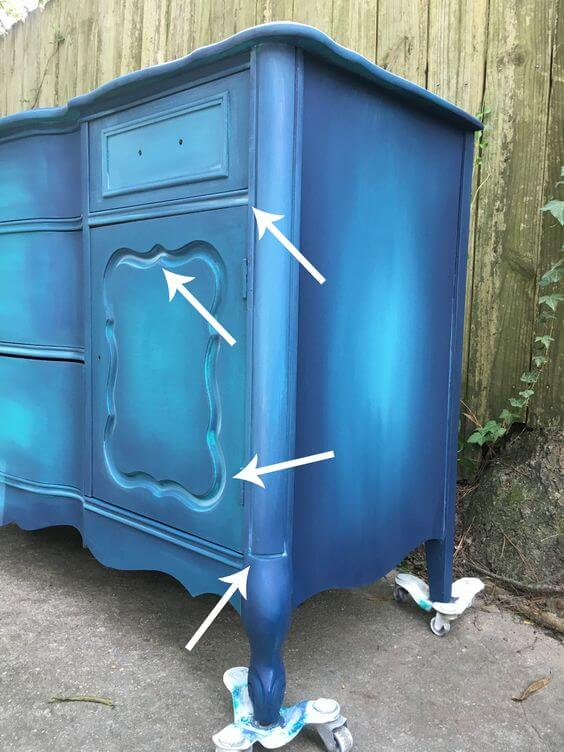 Blue French Dresser