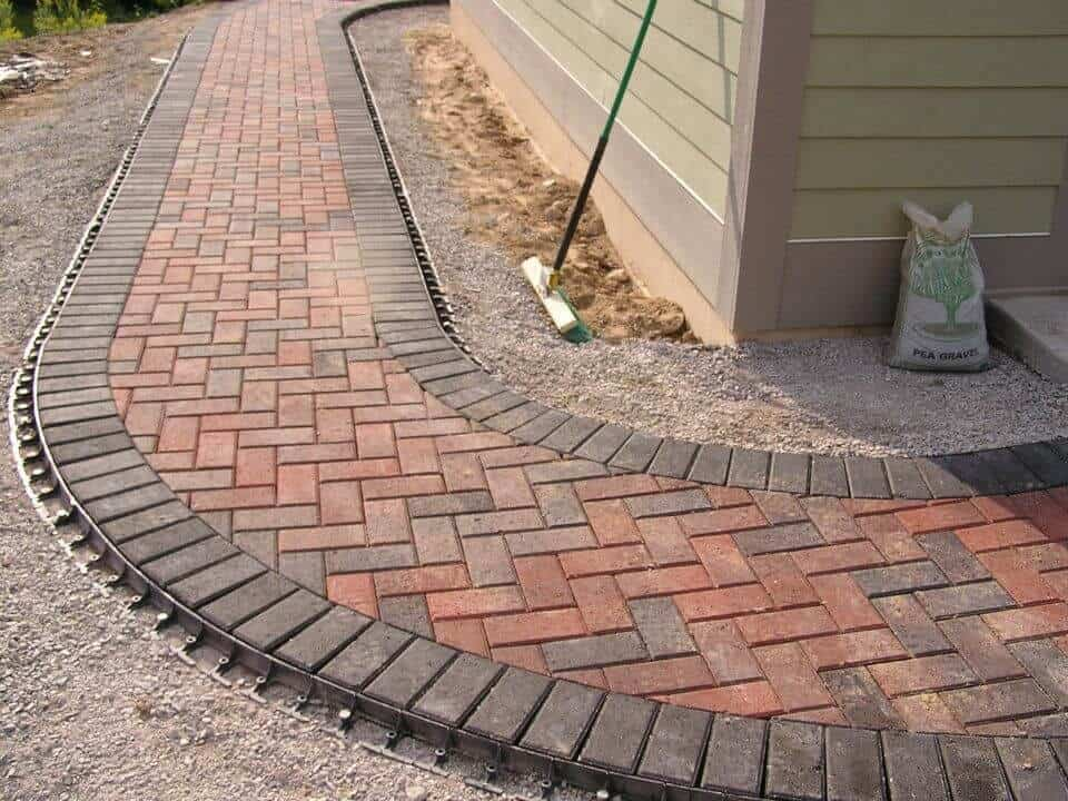 Brick edging gravel patios ideas