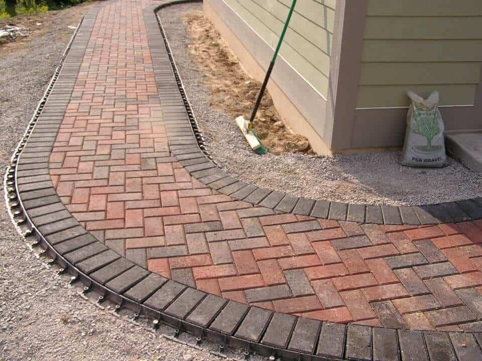 Brick edging gravel patios ideas