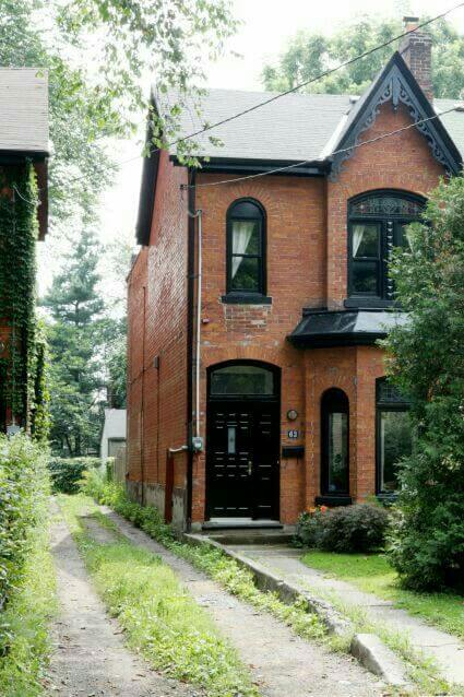 Brown Red Brick Homes Paint