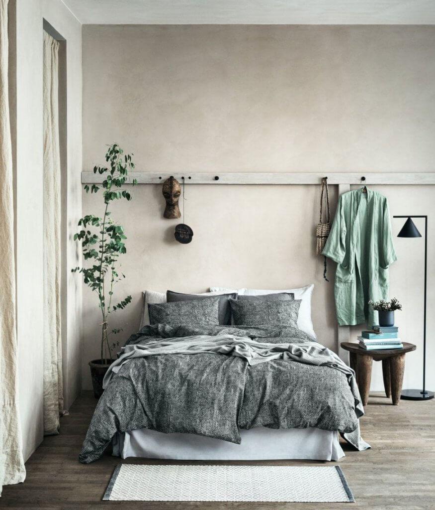 Calming Green and grey bedroom