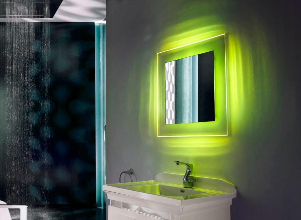 Colorful Mirrors bathroom