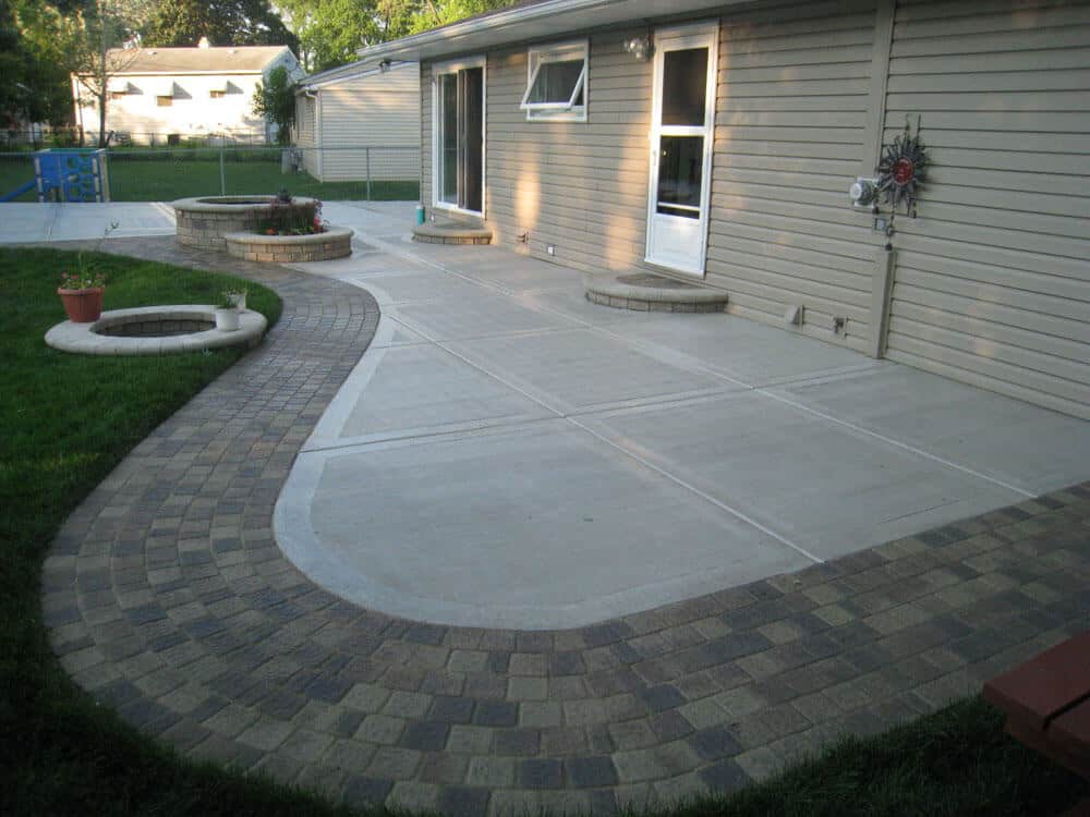 Concrete Patios design for patio
