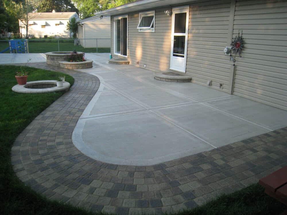 Concrete Patios design for patio