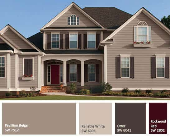 Cream or Beige Exterior Paint for exterior