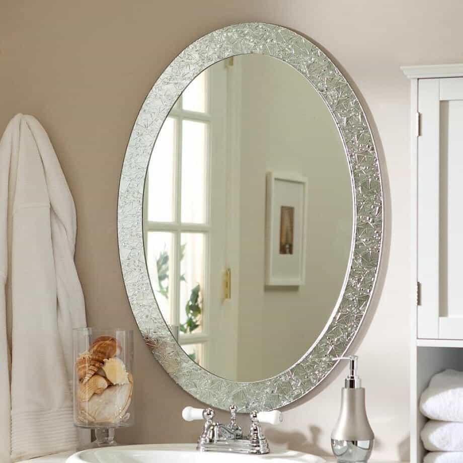 Crystal Framed Mirrors for bathroom