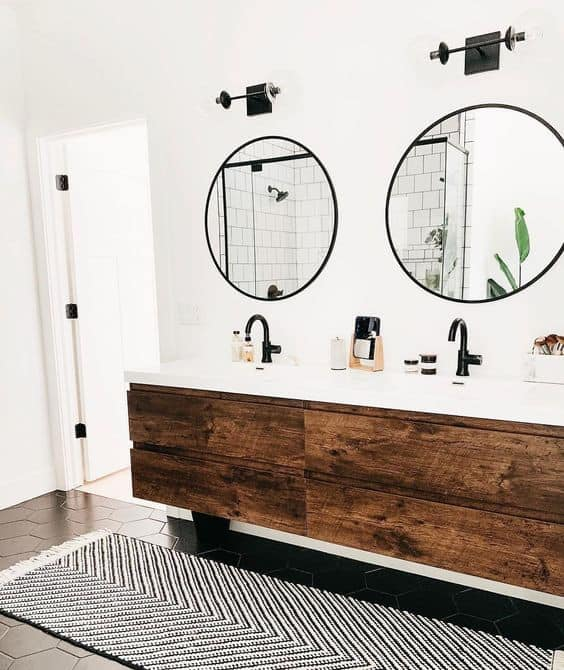 Double mirrors for master bathroom