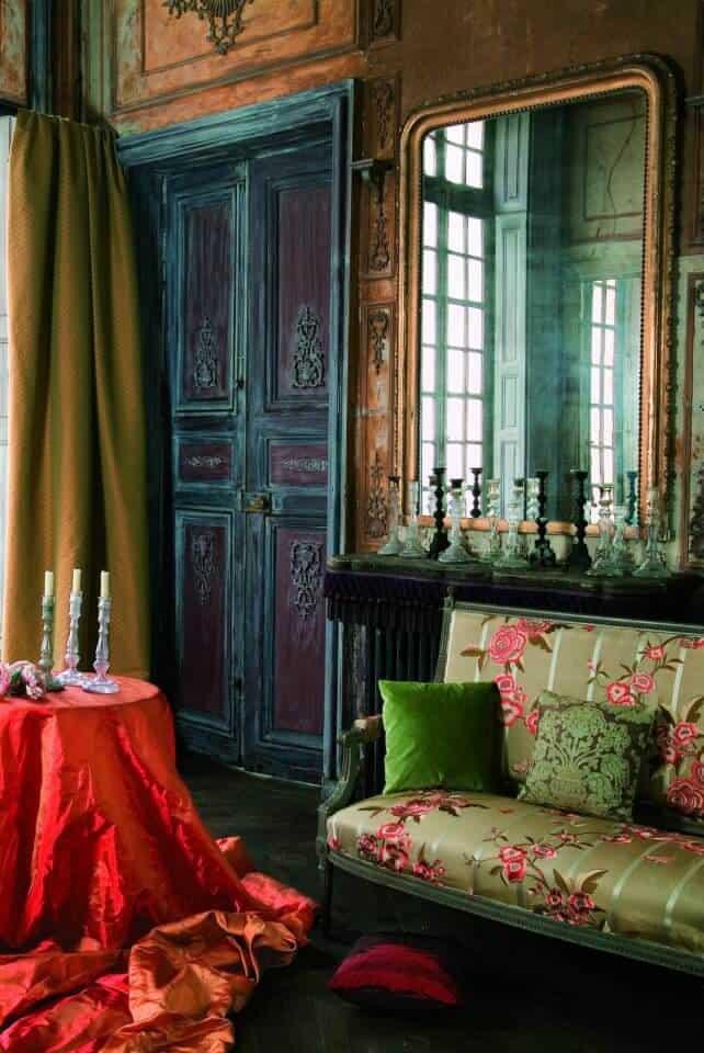 Fabrics bohemian living room