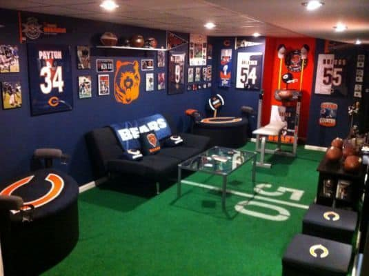 Football garage ideas