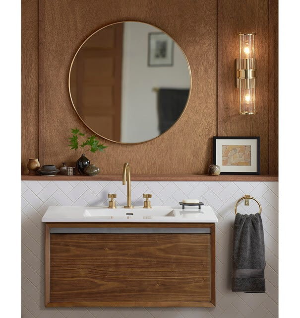Framed Minimalist Mirrors for bathroom