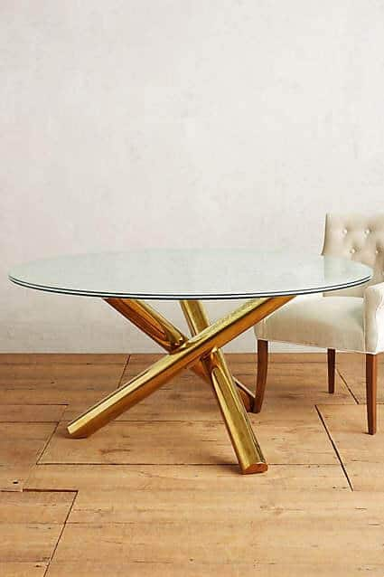 Gold legs on tables