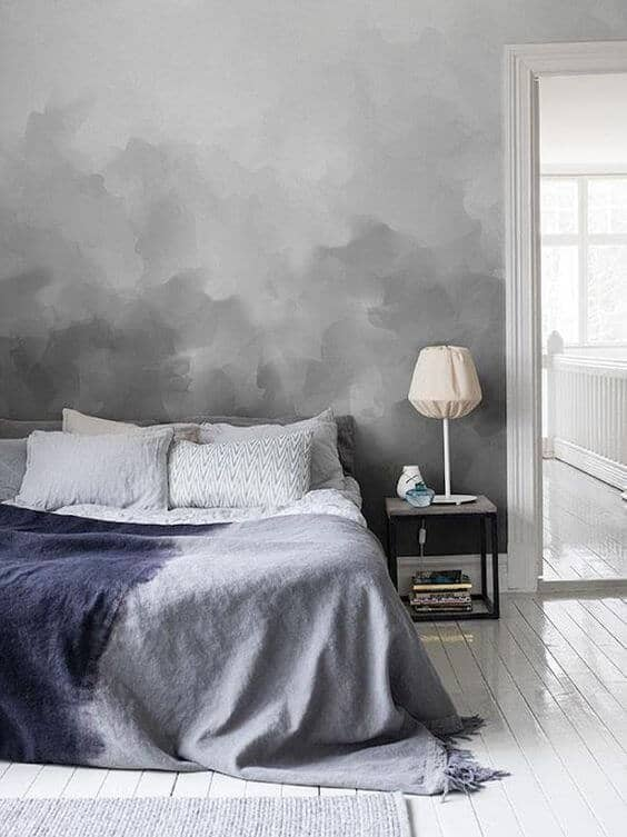 Grey Border Paper for bedroom