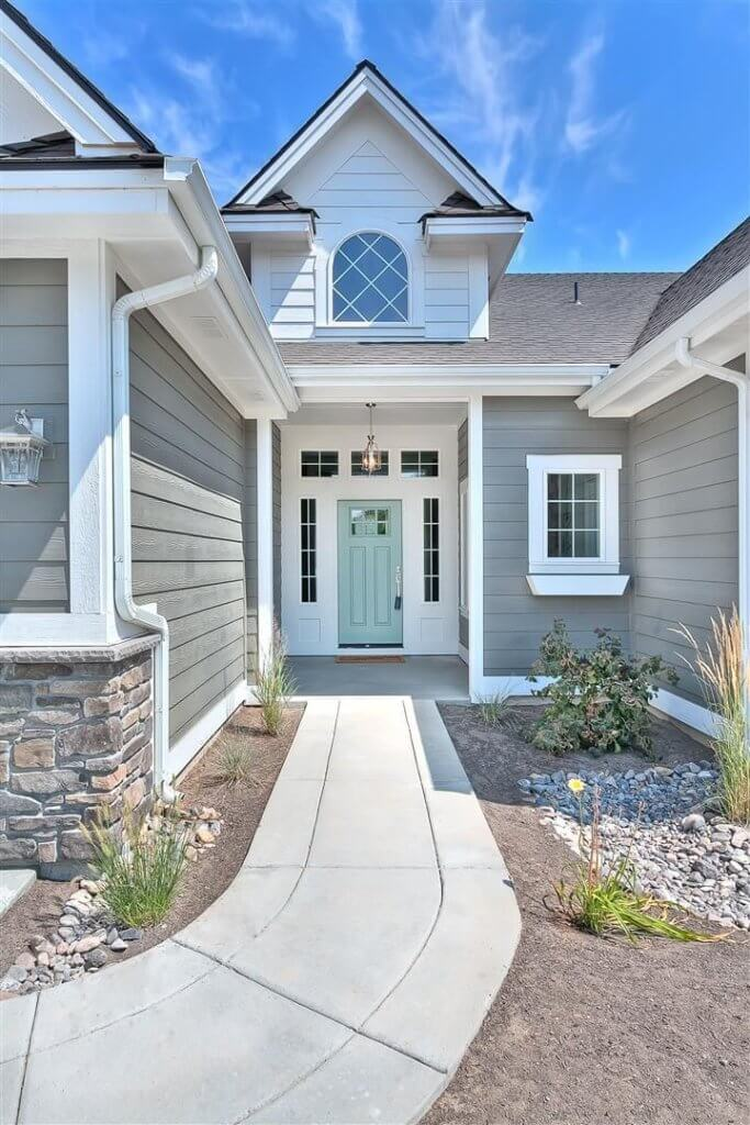 Grey Exterior Home Paint