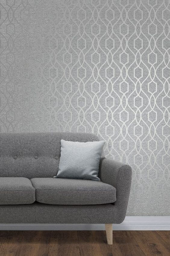 Grey Feature Wall-paper
