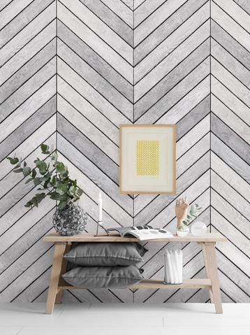 Grey Wallpaper in a Frame for bedroom