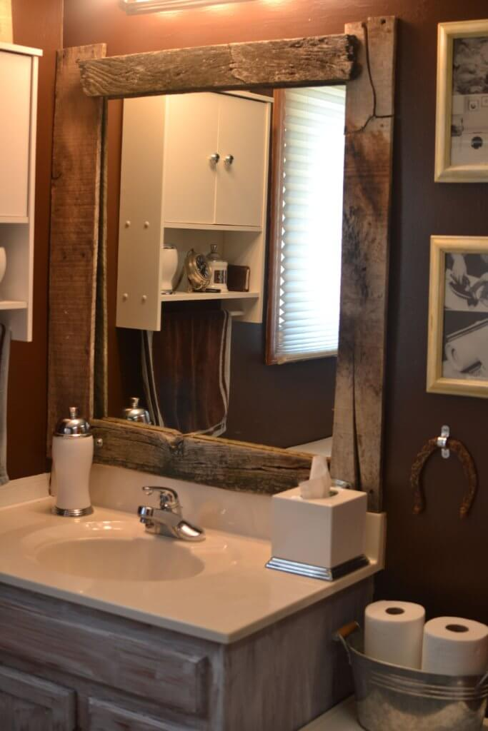 Hardwood Frames mirrors for bathroom