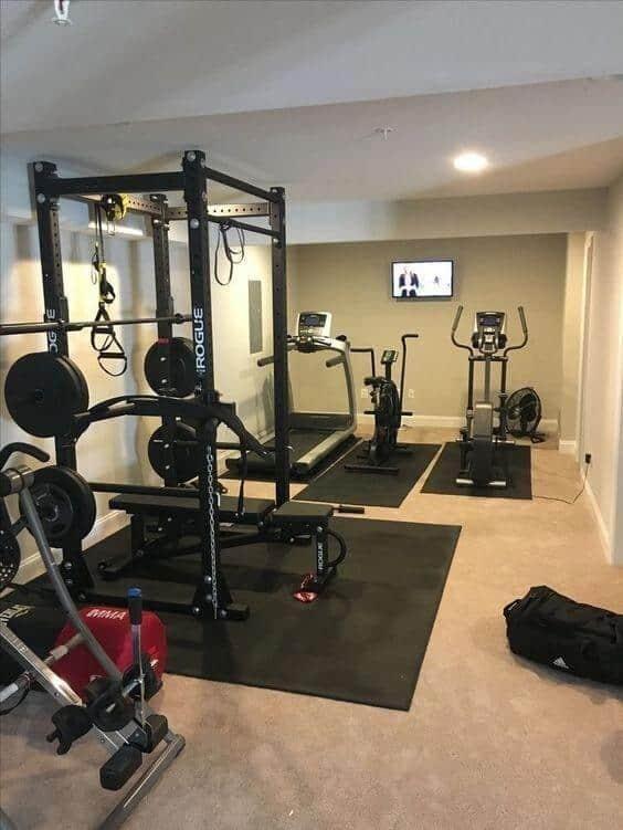 Home Basement Gym Ideas