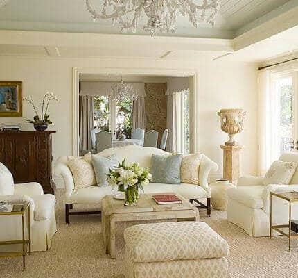 Ivory and Cream living room