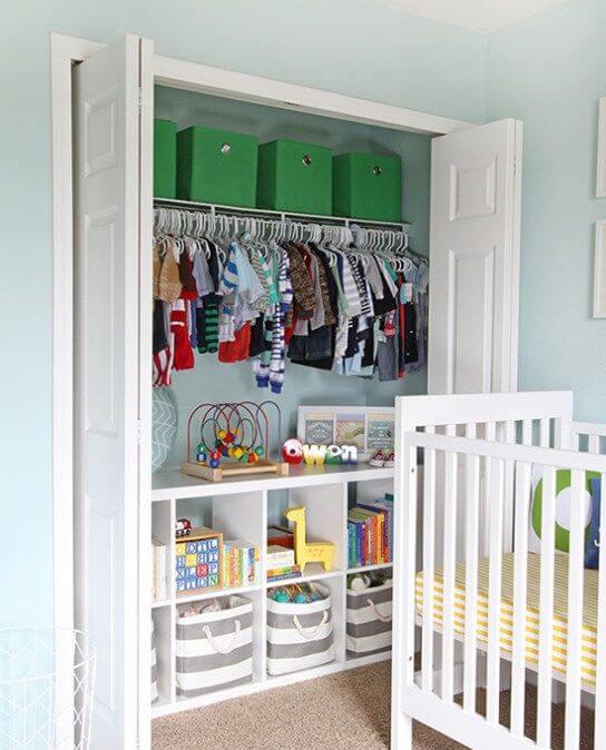Kids Room Organization Inside cupboards