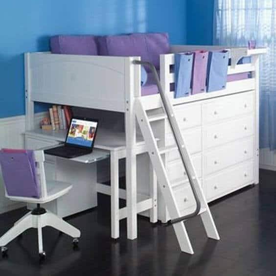 Kids Storage Beds with Desks