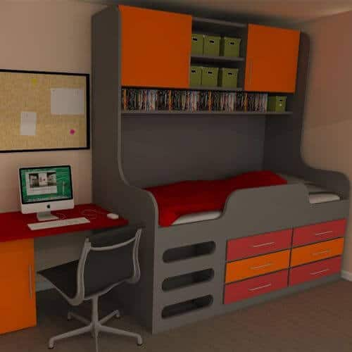 Kids Storage Beds with Shelves