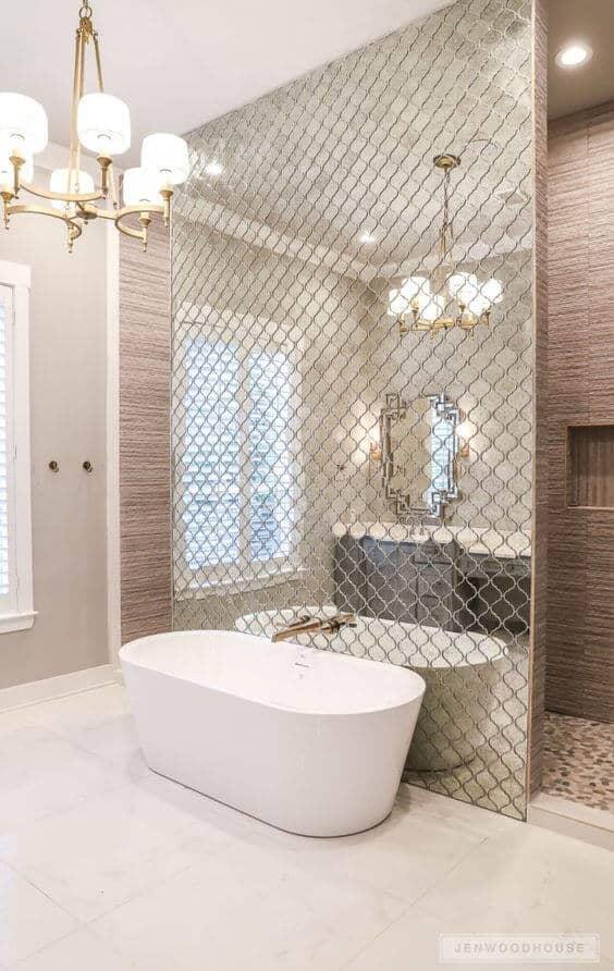 Mirror walls for master bathroom