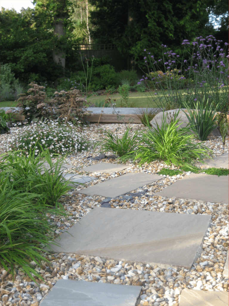 Paving slabs for gravel