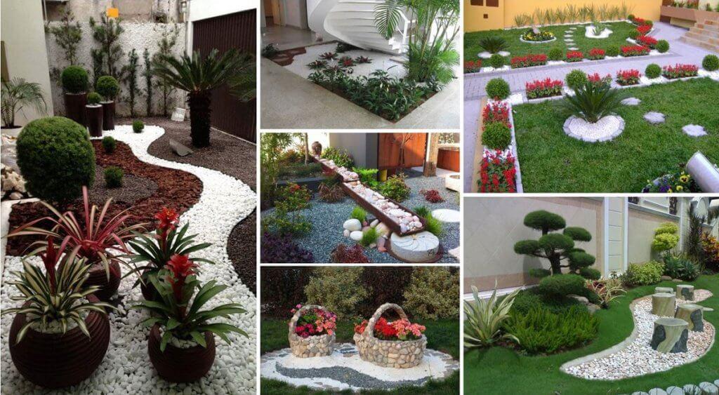 Pebbles ideas for patio