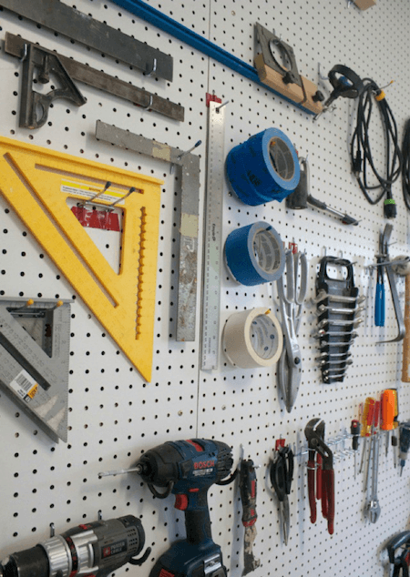 Pegboard Ideas for Tools