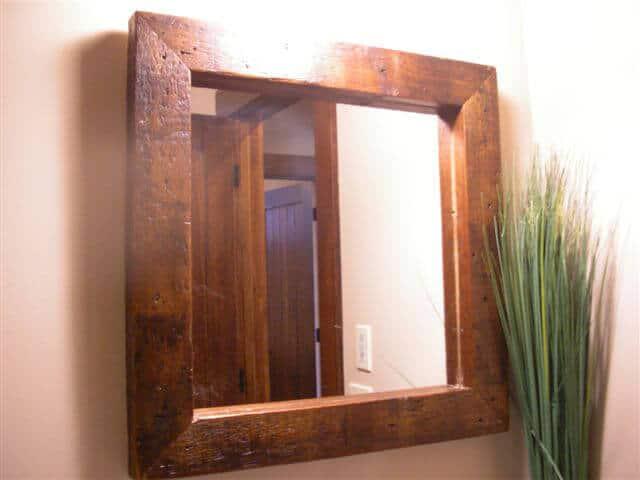 Pine Framed Mirrors for bathroom
