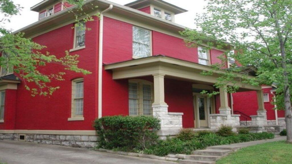 Red Red Brick Homes Paint