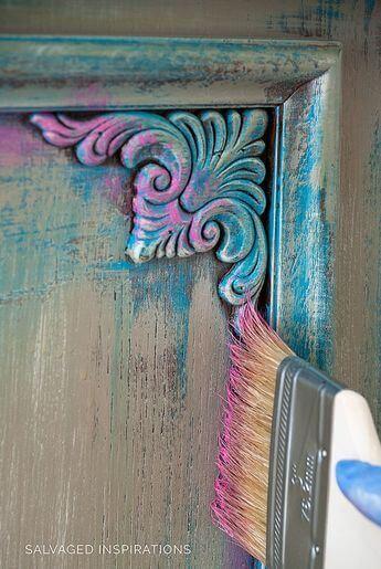 Refurbished colorful furniture ideas