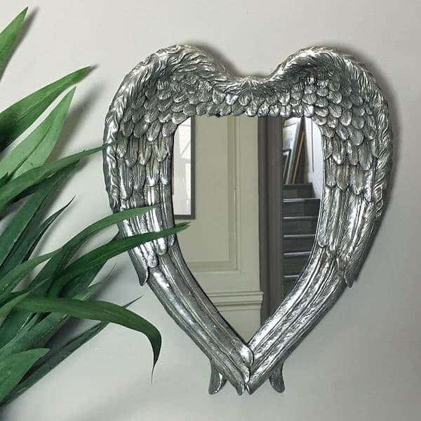 Silver Angel Wing Mirrors For Bathroom