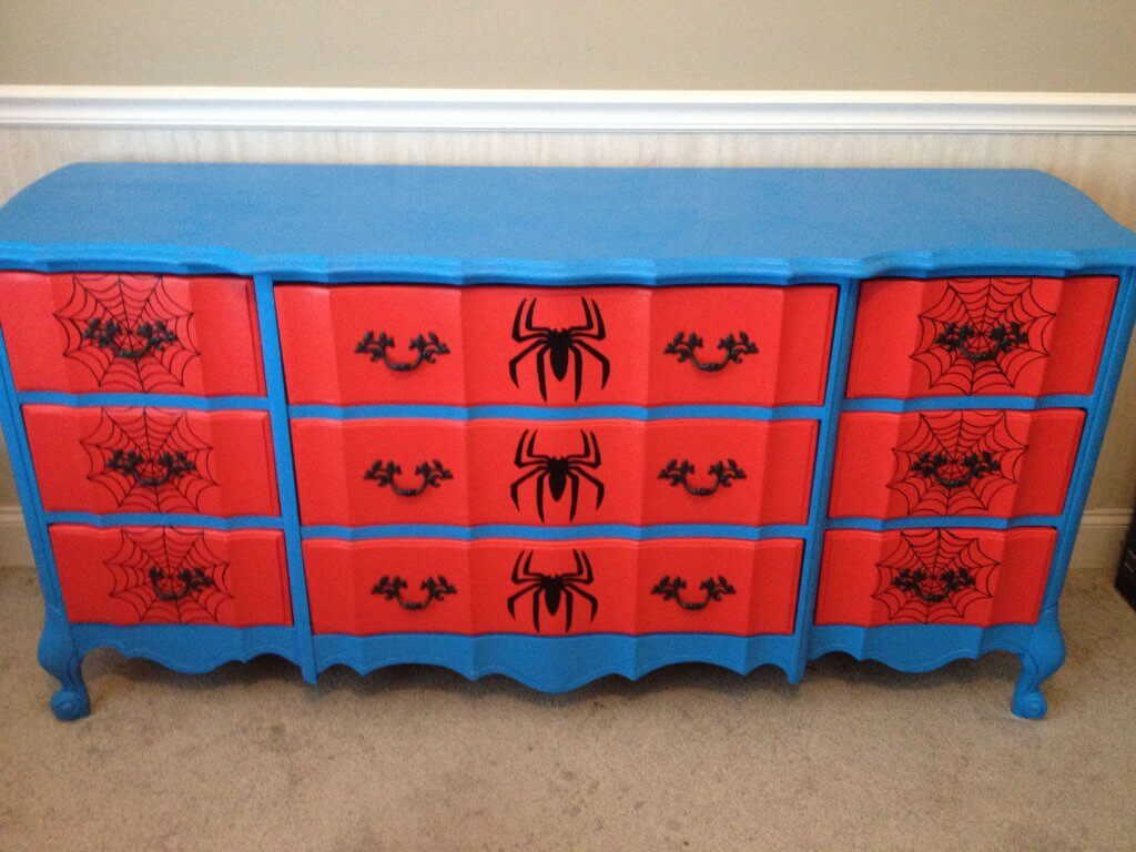 Simple character themed furniture with decals