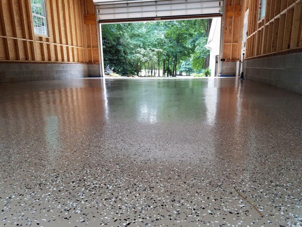 Single color epoxy for garage