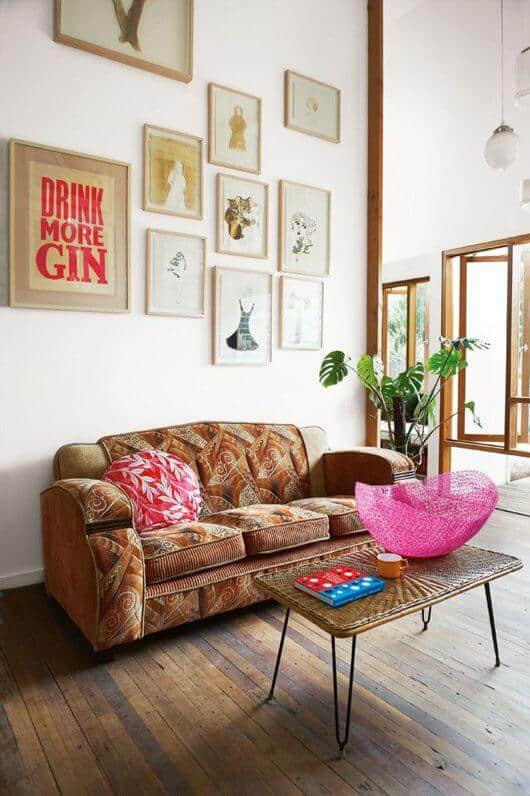 Sofas bohemian decor for a minimalist room
