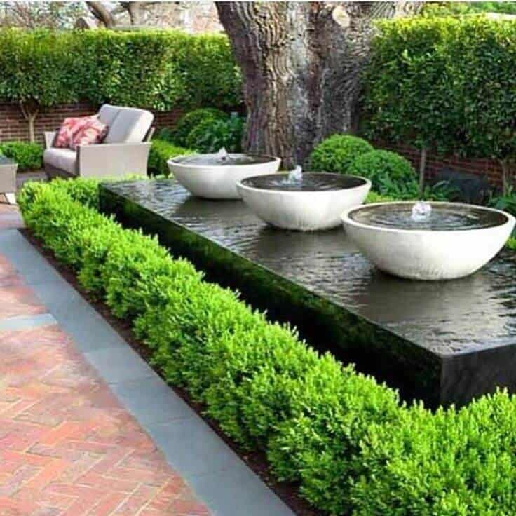 Water feature patio ideas
