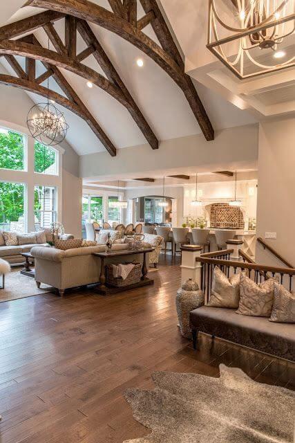 Wooden Ceiling Beams living room