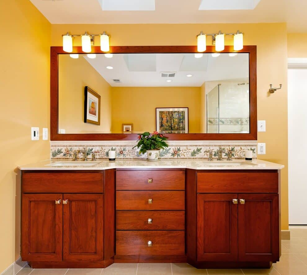 Wooden Large Mirrors for Bathroom