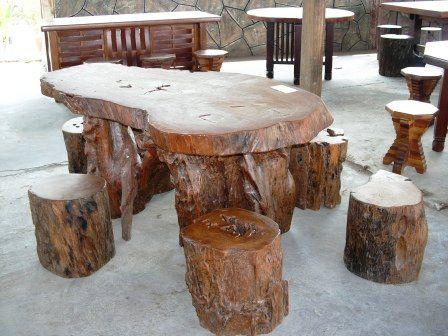 big log rustic minimalist