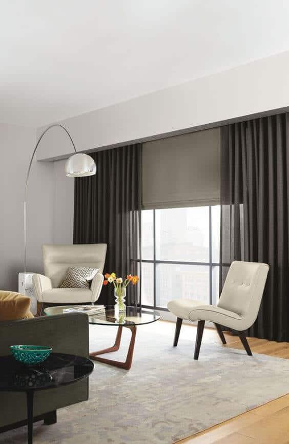 black-out roller blind for grey bedroom