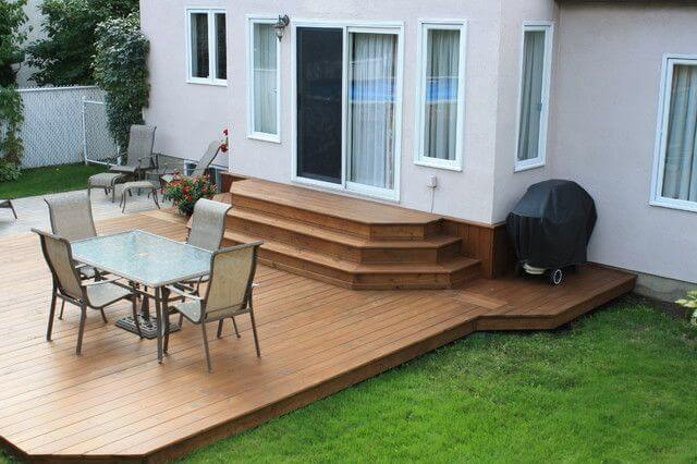 decking patio designs for small house