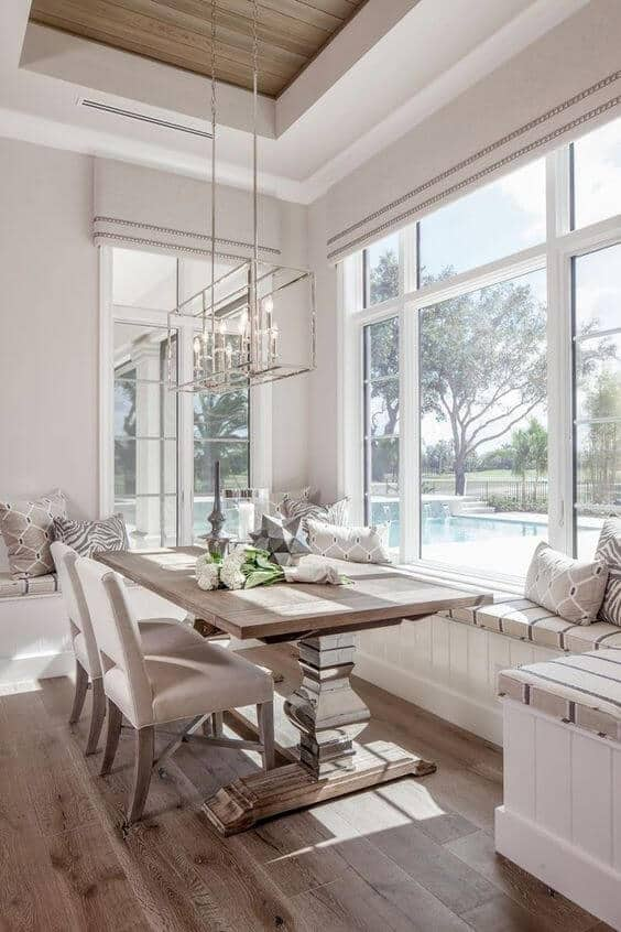 dining area white decor