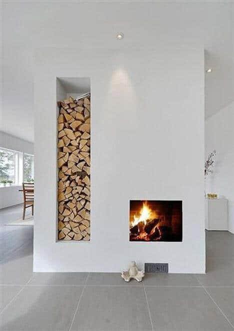fireplace rustic minimalist