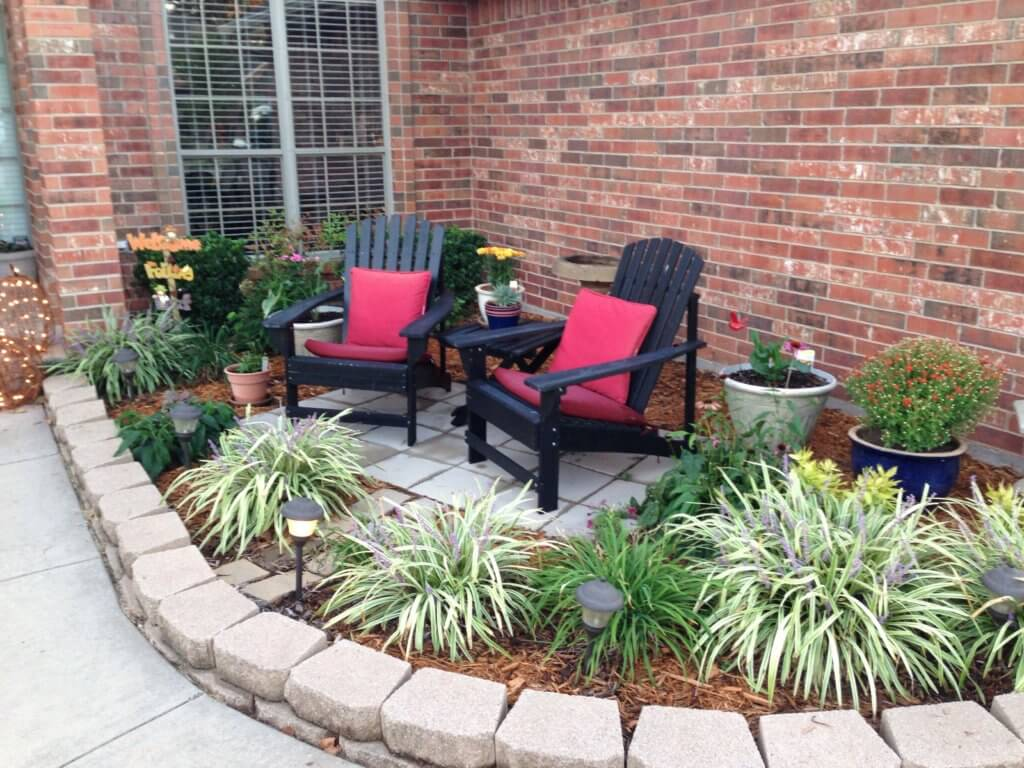 flower beds pavers