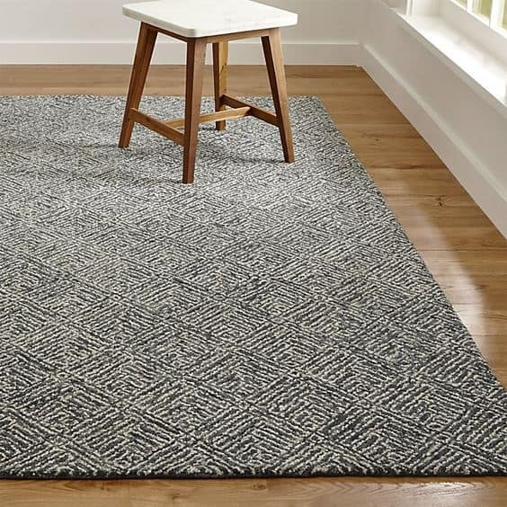 geometric rug bedroom