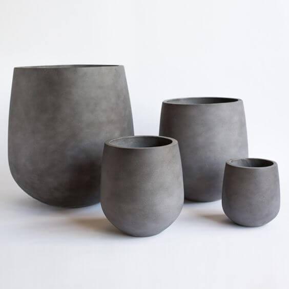 grey flower pot